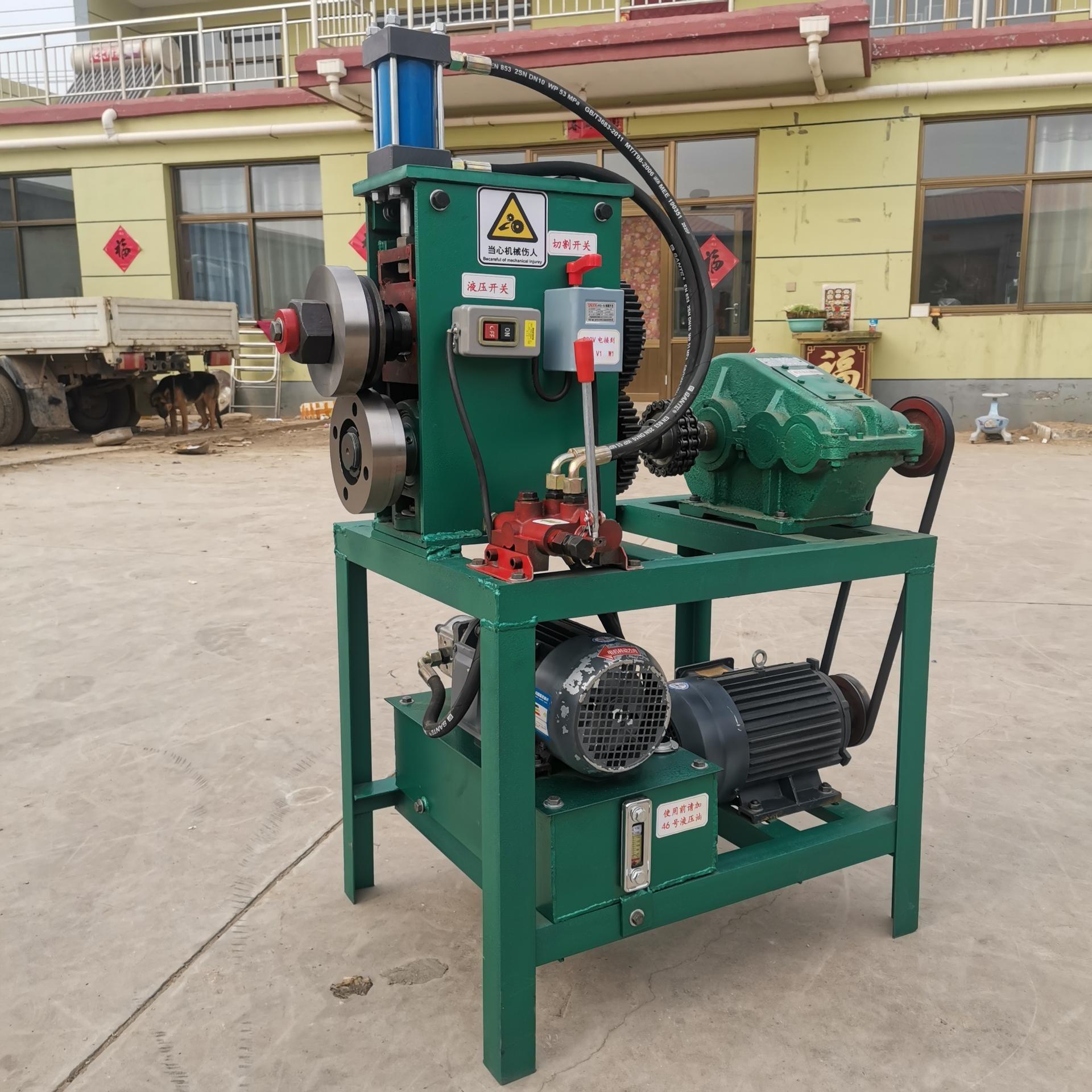 龍雨牌油桶切蓋機 廢舊油桶切蓋機視頻 廢油桶切割機 油桶壓平一體切割機廠家