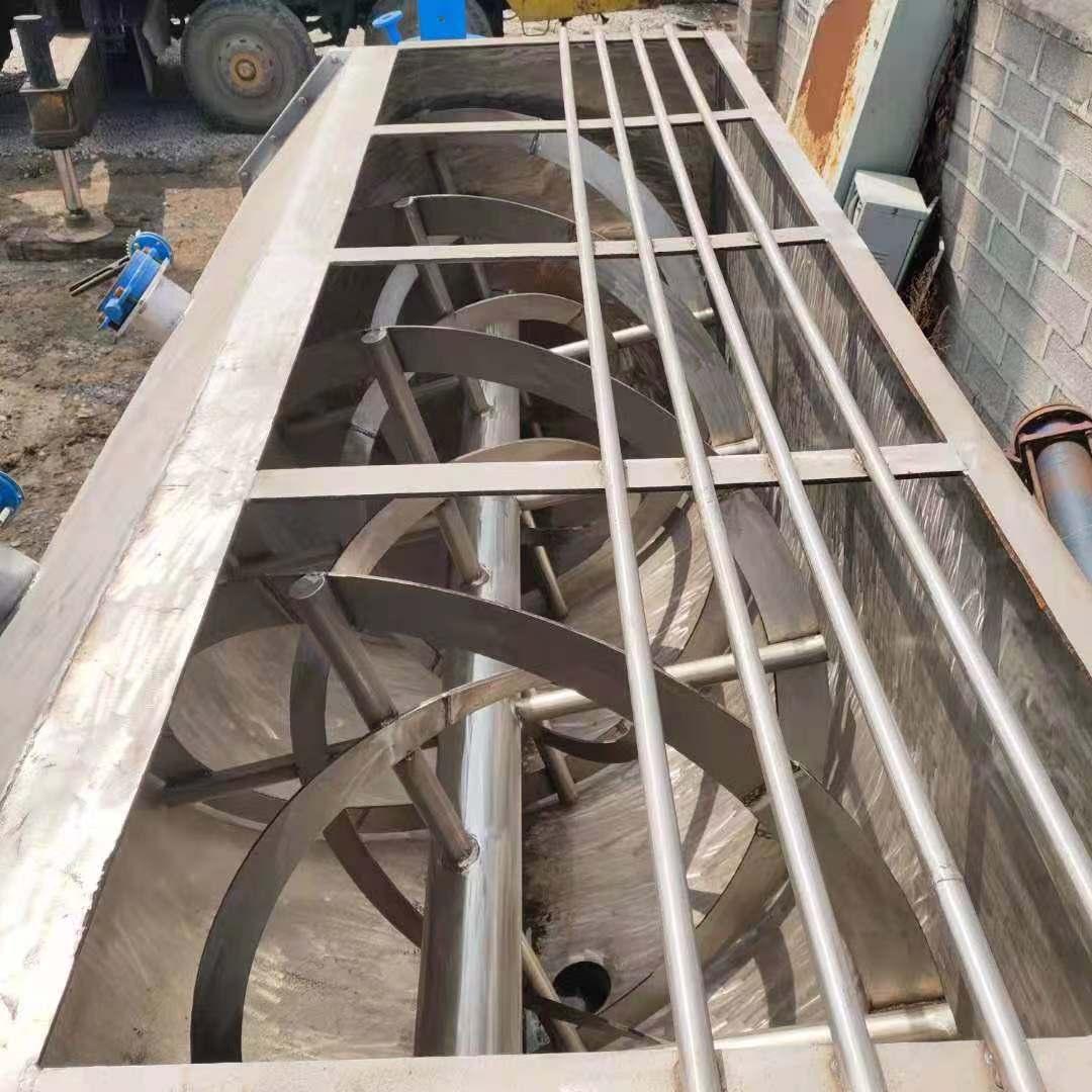二手飼料螺帶混合機 二手2立方不銹鋼飼料螺帶混合機 幾乎全新