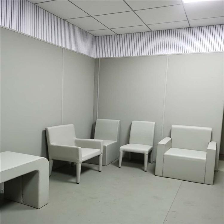 談話留置室防撞軟包定制 奧壹凱談話留置室改造方案 防撞談話桌椅款式咨詢