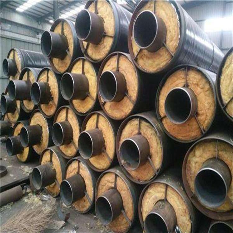 鹽山東岳實體廠家 供應聚氨酯直埋發泡保溫管 直埋熱力保溫鋼管 玻璃鋼保溫管